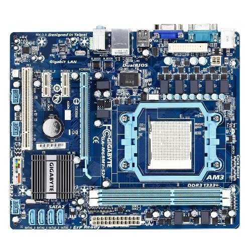 GIGABYTE GA-M68MT-S2P Desktop Motherboard - nVIDIA - Socket AM3 PGA-941