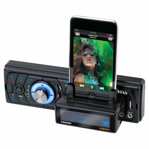 Boss Audio 758DBI Car Flash Audio Player - 52 W - LCD - Single DIN