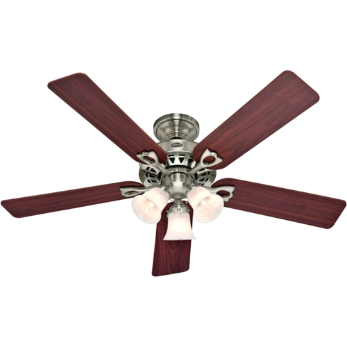 """Hunter Fan 22438 52"""" Brushed Nickel with 5 Cherry/Maple Blades The Sontera"""