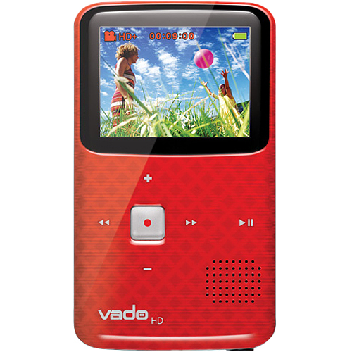 "Creative Labs Vado HD 73VF062400008 Digital Camcorder - 2"" LCD - CMOS - Red"