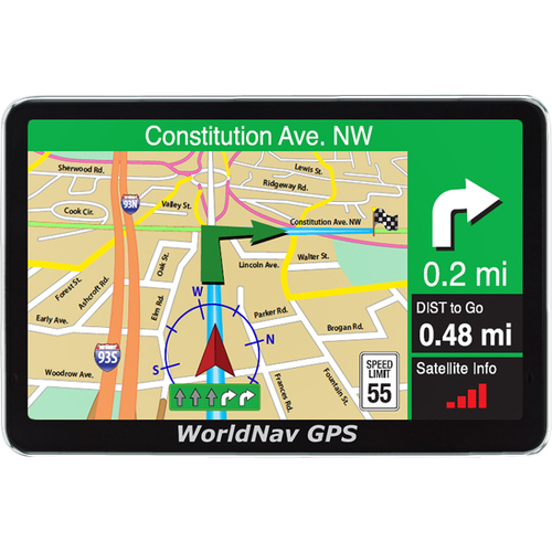 Teletype WorldNav 5200 Automobile Portable GPS Navigator