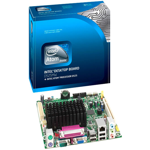 Intel Innovation D525MW Desktop Motherboard - Intel - 10 x Bulk Pack