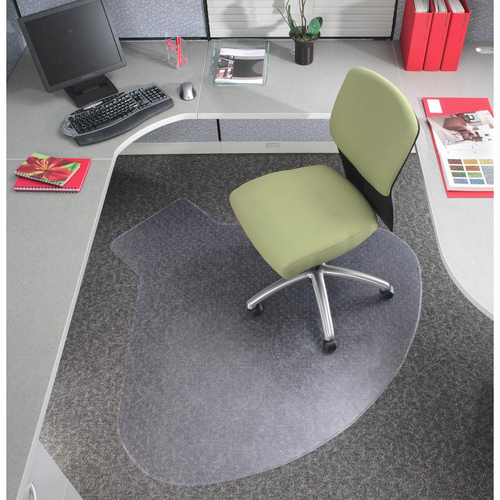 chair mat with lip. Deflecto DuraMat L-Shaped Medium Pile Chair Mat With Lip