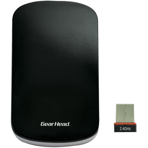 Gear Head MP3750MAC Mouse - Optical - Wireless - Radio Frequency - Black, Silver