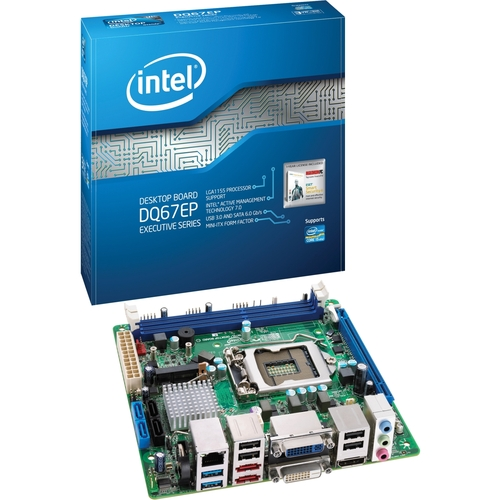 Intel Executive DQ67EP Desktop Motherboard - Intel - Socket H2 LGA-1155 - 10 - 10 pack