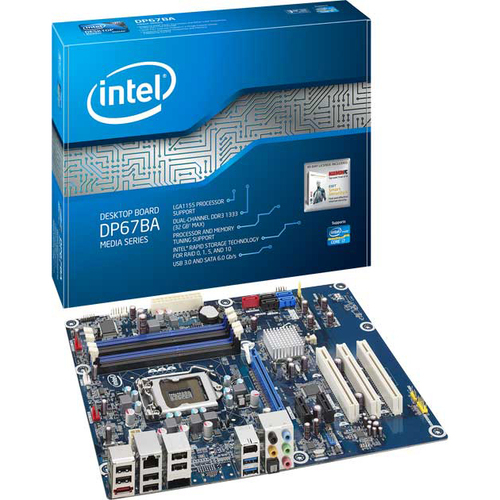 Intel Media DP67BA Desktop Motherboard - Intel - Socket H2 LGA-1155 - 1