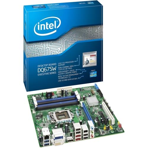 Intel Executive DQ67SW Desktop Motherboard - Intel - Socket H2 LGA-1155 - 10
