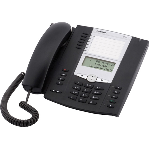Aastra 6753i IP Phone - Wired - Wall Mountable - Charcoal