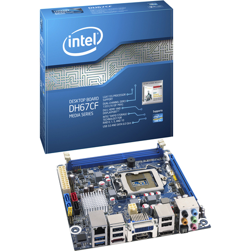 Intel Media DH67CF Desktop Motherboard - Intel - Socket H2 LGA-1155 - 10 x Bulk Pack