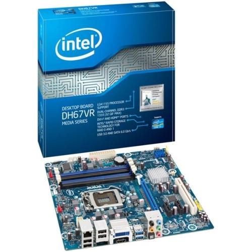 Intel Media DH67VR Desktop Motherboard - Intel - Socket H2 LGA-1155 - 10 x Bulk Pack