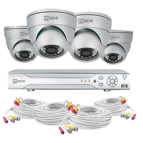 Mace Security MaceView MVK-SQ4CH4CAMD Video Surveillance System