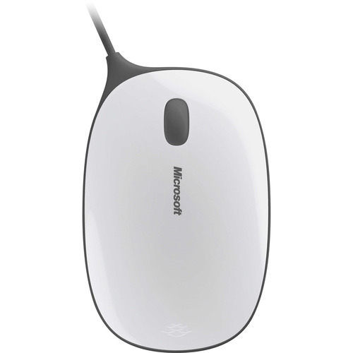 Microsoft Express Mouse - BlueTrack - Wired - Gray, White