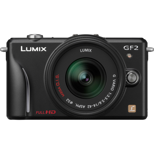 Panasonic Lumix DMC-GF2 12.1 Megapixel Mirrorless Camera (Body with Lens Kit) - 14 mm - 42 mm - Black