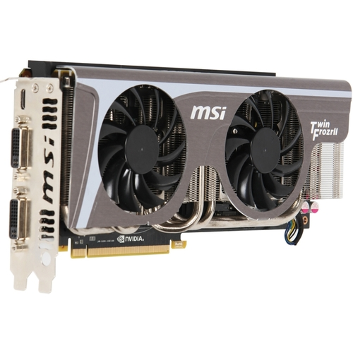 MSI N570GTX TWIN FROZR II/OC GeForce GTX 570 Graphic Card - 750 MHz Core - 1.25 GB GDDR5 SDRAM - PCI Express 2.0 x16