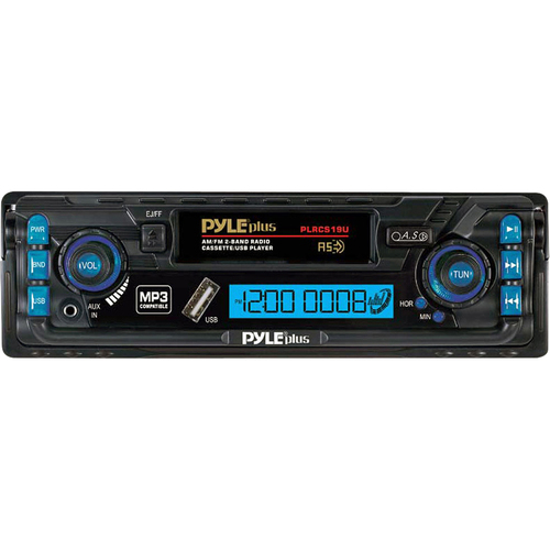 Pyle PLRCS19U Car Cassette Player - 200 W RMS - iPod/iPhone Compatible