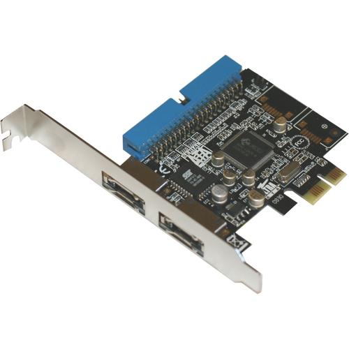 SYBA Multimedia Combo eSATA II + IDE (2 + 1) PCI-Express Controller Card JMB363 Chipset