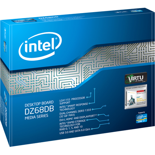 Intel DZ68DB Desktop Motherboard - Intel - Socket H2 LGA-1155 - 1