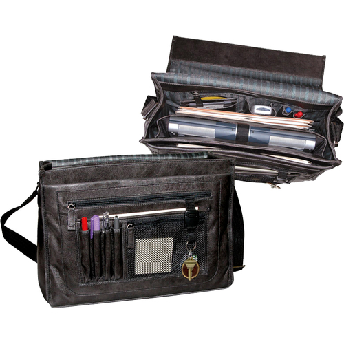 Buxton Business OC24T482BK Carrying Case (Briefcase) for Notebook - Black