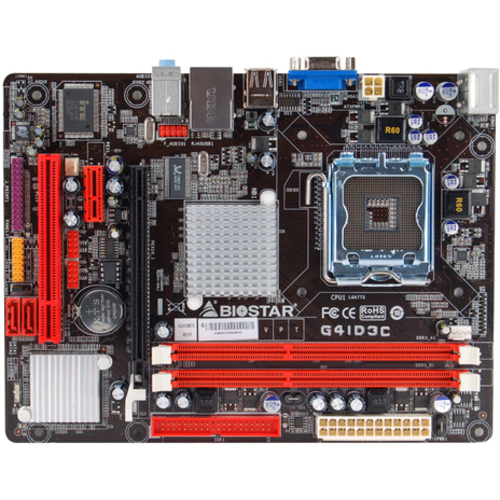 Biostar G41D3C Desktop Motherboard - Intel G41 Express Chipset - Socket T LGA-775