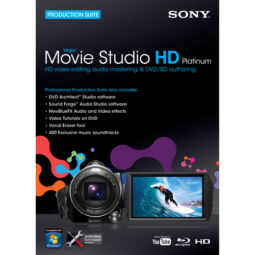Sony MSPVMS11000 Vegas Movie Studio HD v.11.0 Platinum - Complete Product - 1 User