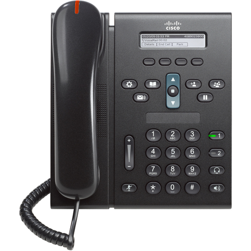 Cisco 6921 IP Phone - Wired - Wall Mountable - Charcoal