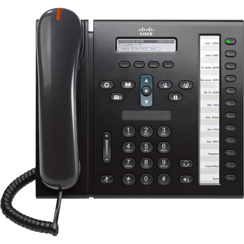Cisco 6961 IP Phone - Wired - Wall Mountable - Charcoal
