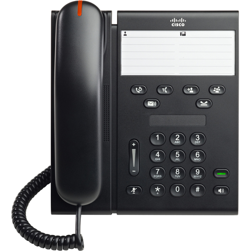Cisco 6911 IP Phone - Wired - Desktop, Wall Mountable - Charcoal