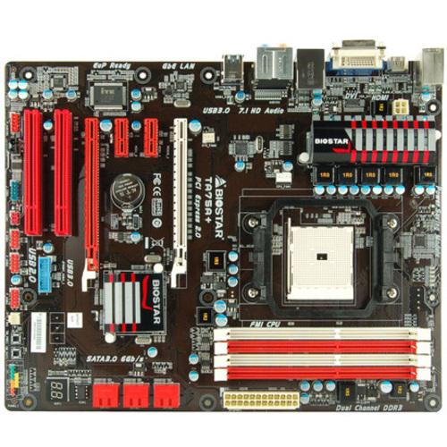 Biostar TA75A+ Desktop Motherboard - AMD A75 Chipset - Socket FM1