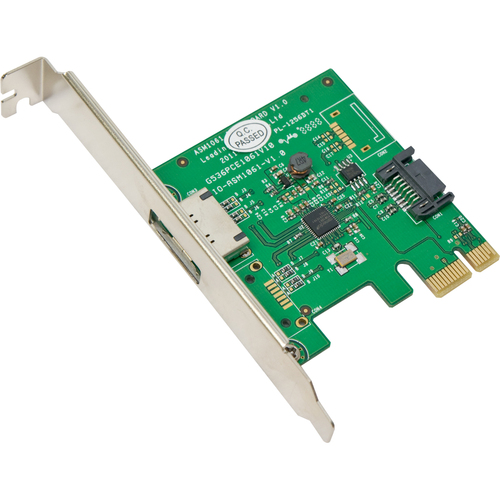 SYBA Multimedia, Inc. SATA III 1 Internal, 1 External 6Gbps Ports PCI-e Controller Card