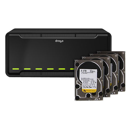 Drobo B800fs NAS Array - 4 x HDD Installed - 8 TB Installed HDD Capacity