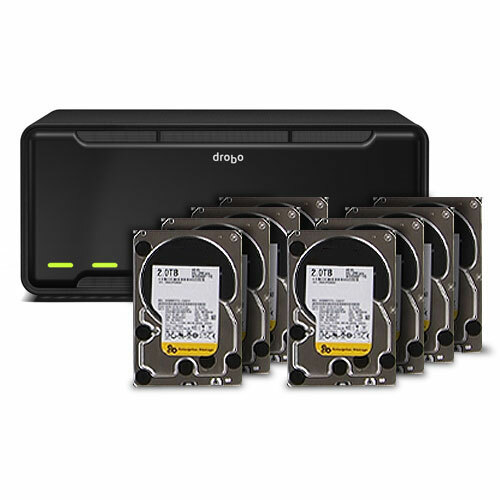 Drobo B800fs NAS Array - 8 x HDD Installed - 16 TB Installed HDD Capacity