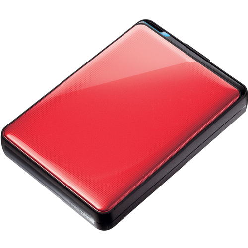 "Buffalo MiniStation Plus HD-PNTU3 1 TB 2.5"" External Hard Drive - 1 Pack - Ruby Red"