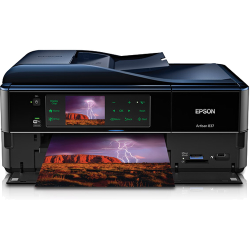 Epson Artisan 837 Inkjet Multifunction Printer - Color - Photo/Disc Print - Desktop