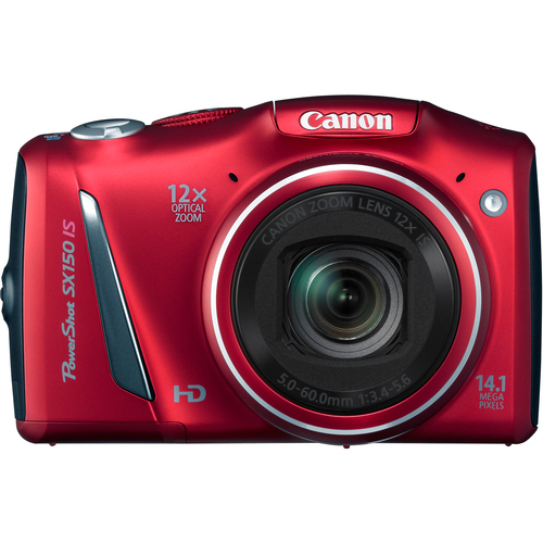 Canon PowerShot SX150 IS 14.1 Megapixel Compact Camera - Red