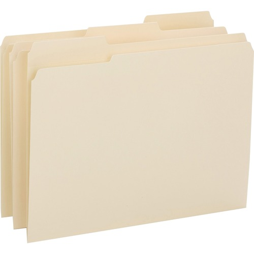 Bus. Source 1/3-cut 1-ply Tab File Folders | by Plexsupply
