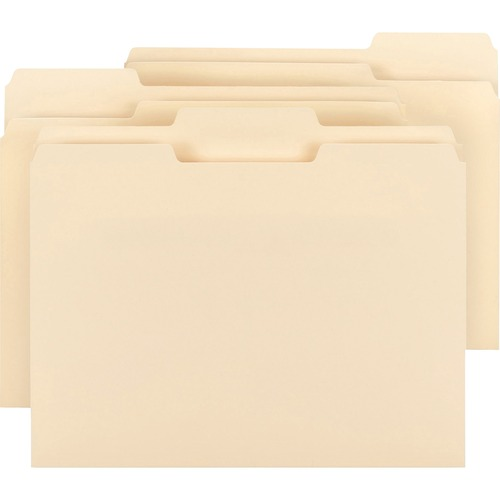 Bus. Source 1/3 Cut Tab Plain Manila File Folders | by Plexsupply