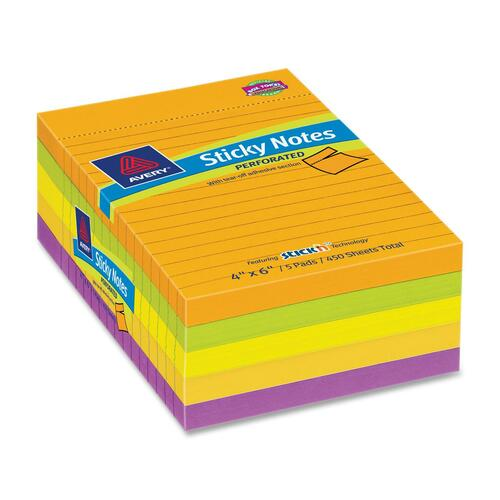 Avery Dennison Perforated Sticky Note