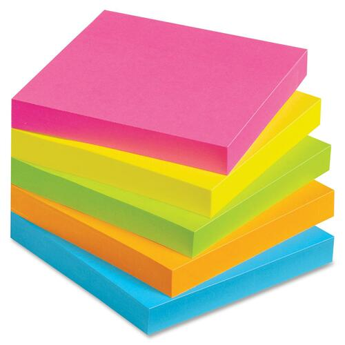 "Avery Dennison 22730 Lay Flat Sticky Note - Removable, Self-adhesive, Residue-free - 3"" x 3"" - 12 / Pack"
