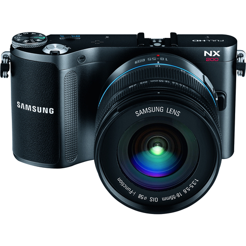 Samsung NX200 20.3 Megapixel 3D Mirrorless Camera (Body with Lens Kit) - 18 mm - 55 mm - Black