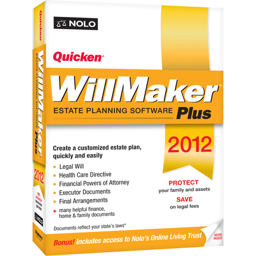 Nolo Press Inc Quicken WillMaker 2012 Plus