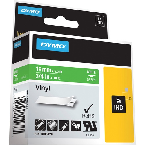 "Dymo Colored 3/4"" Vinyl Label Tape 