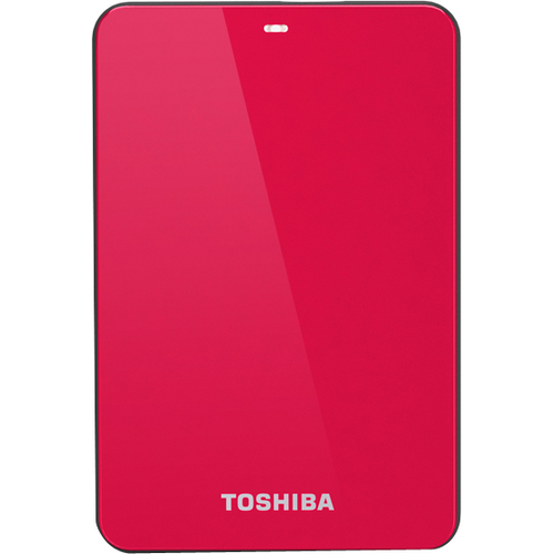 Toshiba Canvio HDTC605XR3A1 500 GB External Hard Drive - Red