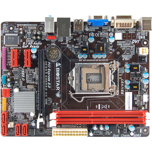 Biostar H61MGC Desktop Motherboard - Intel H61 Express Chipset - Socket H2 LGA-1155