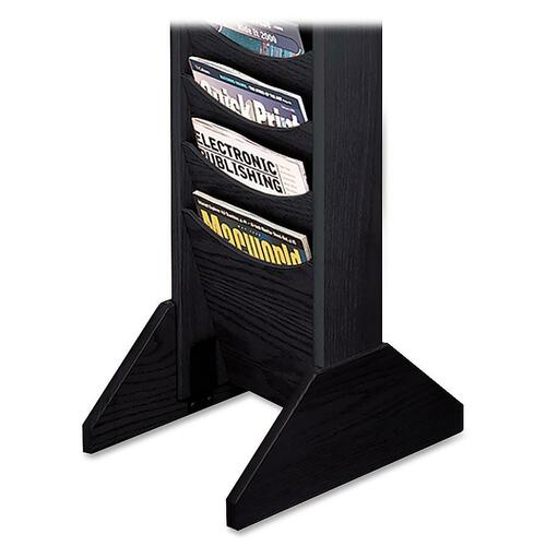 Buddy Products 6174 Literature Wall Racks Single Wood Base