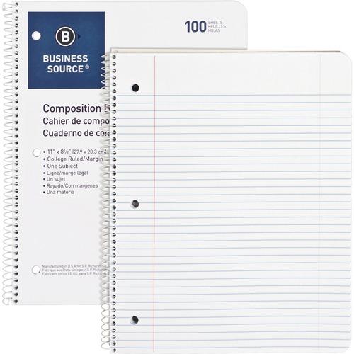 Bus. Source Wirebound College Ruled Notebooks | by Plexsupply