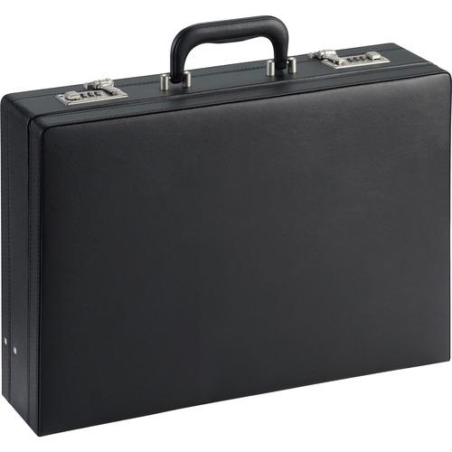 """Expandable attache case, 17-1/2""""x4""""x12-1/2"""", black, sold as 1 each"""