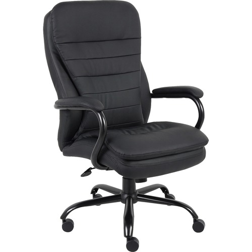Lorell Bonded Leather Dble Cushion Exec Chair | by Plexsupply