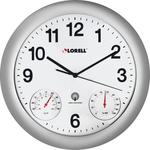 Lorell Analog Temperature/Humidity Wall Clock | by Plexsupply