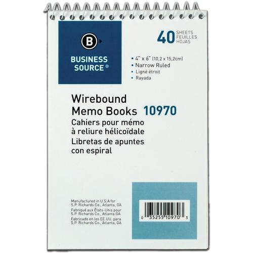Bus. Source Wirebound Memo Books | by Plexsupply