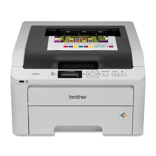 Brother HL-3075CW Laser Printer - Color - 2400 x 600 dpi Print - Plain Paper Print - Desktop